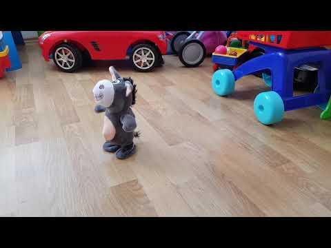 Smart Burro Stuffed Toy Singing Talking Walking Recording for Kids