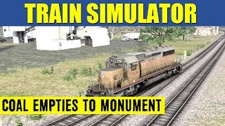 Train Simulator 2013 Game Play EMD SD40-2 Coal Empties To Monument Yard Full Scenario HD