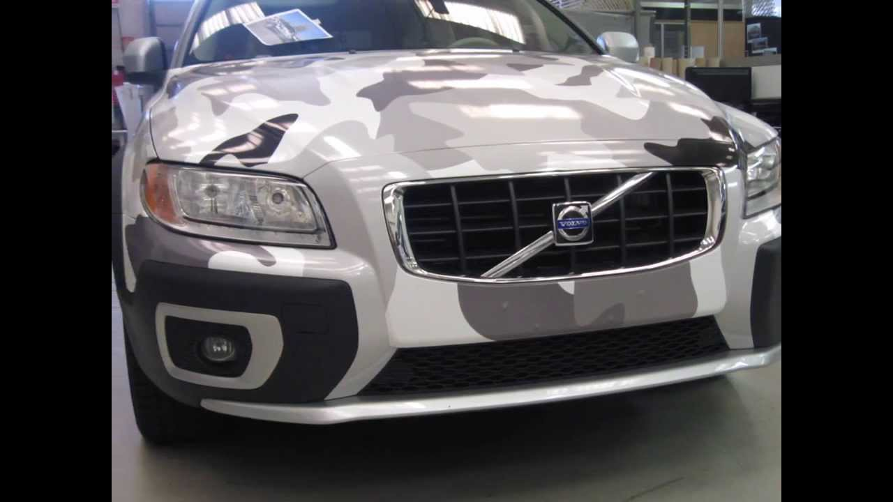 Wrapping Winter Camouflage Volvo Xc70 Youtube