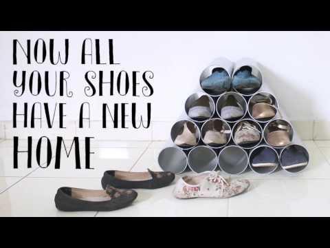 Yoo Tips: Pipe Shoe Rack (Rak Sepatu Dari Pipa PVC) #2