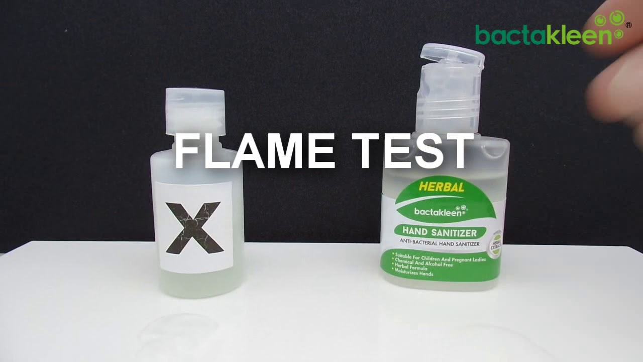 Herbal Hand Sanitizer By Bactakleen Comparison With Commercially