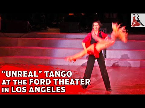 Tammy Gibson and Jordi Caballero perform in Hollywood at the Ford Amphitheatre