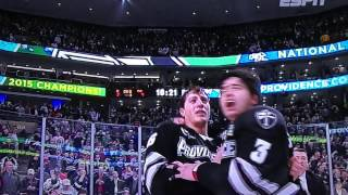 Providence College Friars win a NATIONAL TITLE, beat BU  - 2014-15 NCAA Hockey Champs!!!