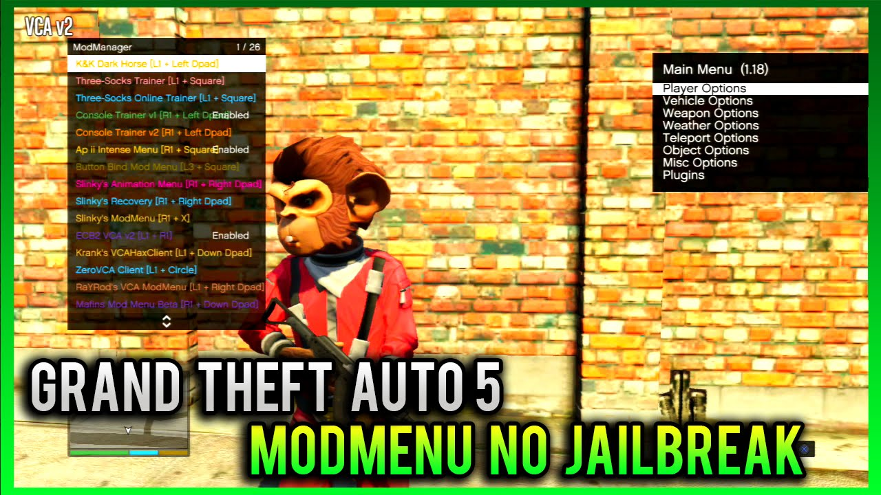 GTA 5 ONLINE PS3: HOW TO GET MOD MENUS WITHOUT A JAILBREAK! GTA 5 MOD MENU  ON OFW! *NO JAILBREAK*