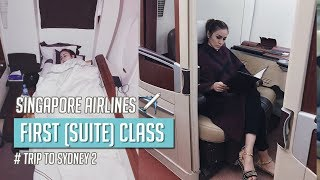 Bobok sendiri di FIRST (suites) CLASS ke Sydney-Singapore Airlines SQ231 #Trip to Sydney 2