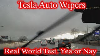 Tesla AutoWipers in a Rain. Do They Really Work?