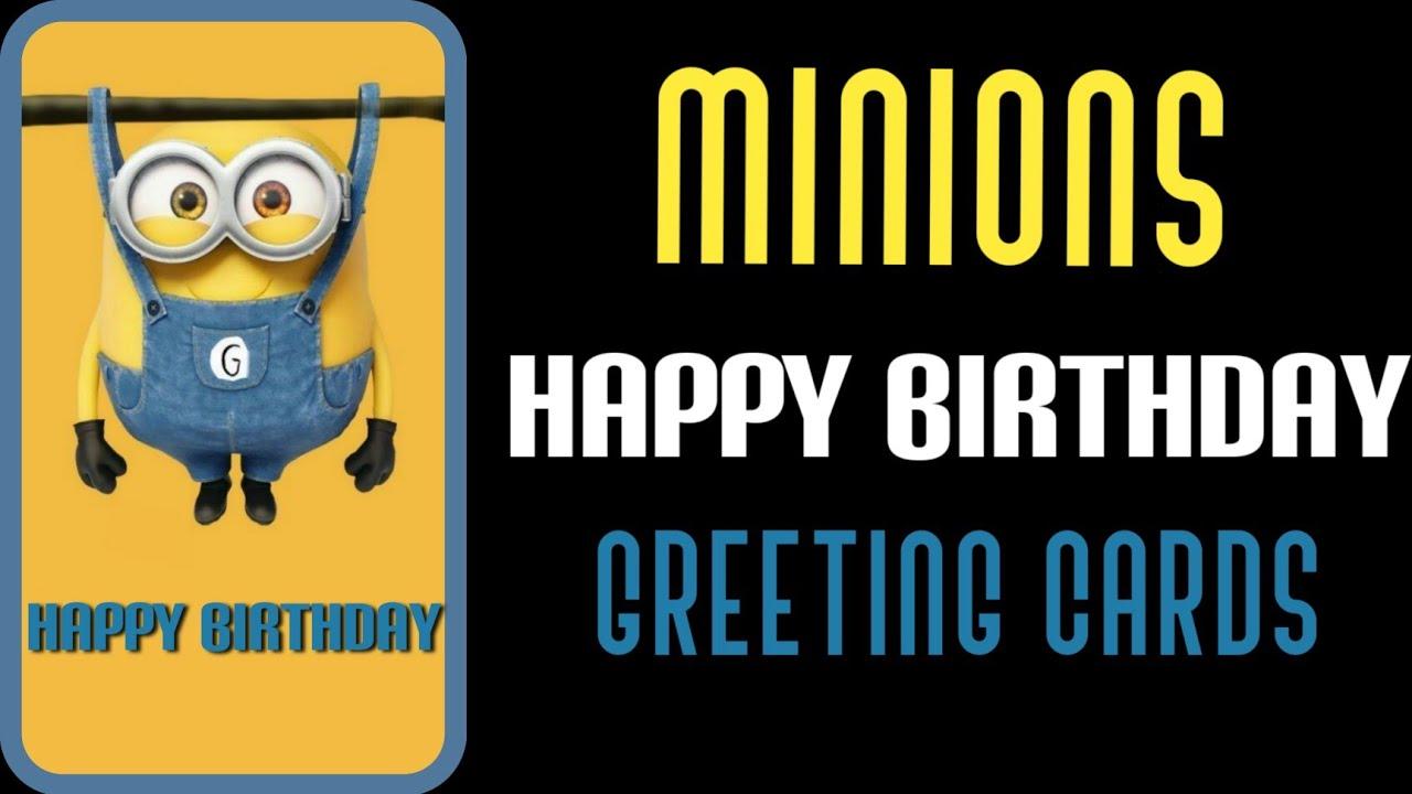 Happy Birthday Minions Edition Birthday Greeting Cards Shorts Youtube