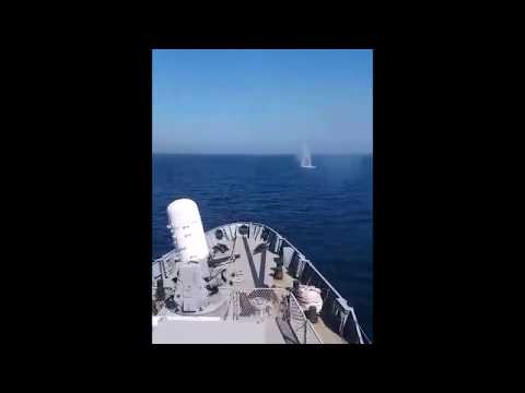 Hellenic Navy Frigate Phalanx CIWS In Action