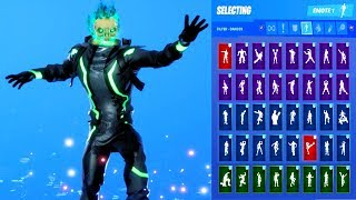 *NEW* Fortnite Eternal Voyage Glowing Flame Skull Skin Showcase with All Dances & Emotes S10 Outfit