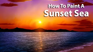Corel Painter Tutorial - Sunset Seascape Painting