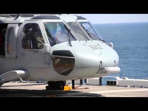 U.S. Navy MH-60 Sea Hawk Helicopters aboard USS Wasp