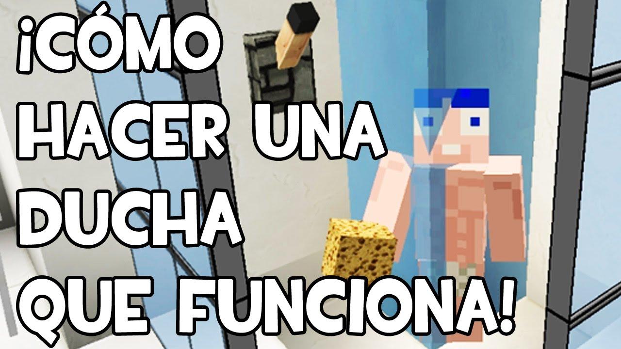 Minecraft c mo hacer una ducha autom tica youtube for Blancana y mirote minecraft