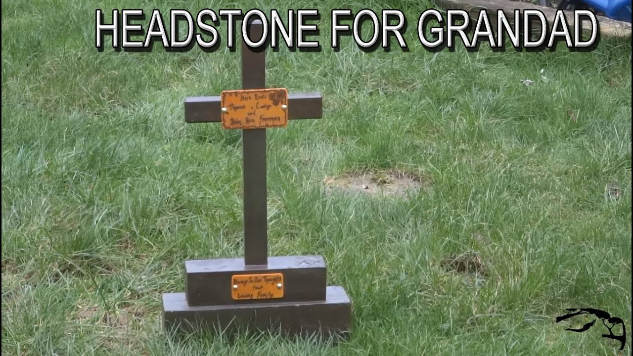 DIY HEADSTONE/WOOD