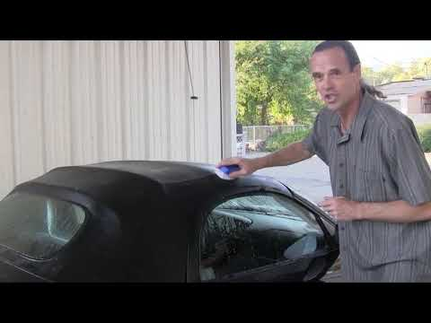 How to Clean Convertible Top & Restore Yellow Window