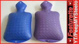 Hot Water Bottle by Fashy Made of Rubber For a Cute & Small Old Fashioned Vintage Style Body Warmer