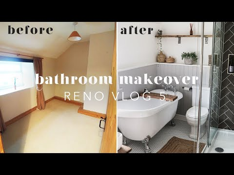 BATHROOM RENOVATION BEFORE & AFTER | RENO VLOG 5