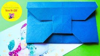 DIY Origami Envelope Tutorial. Traditional Paper Envelope Instructions