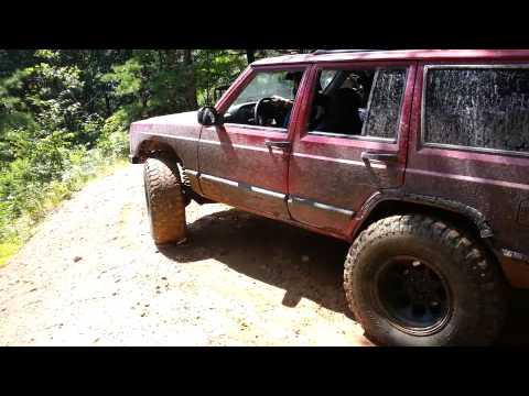 Drew's Jeep XJ up a Dirt Hill Climb at Rausch Creek