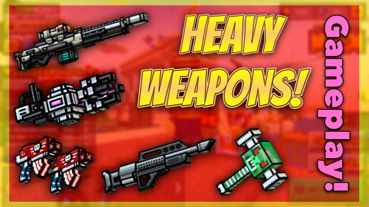 pixel gun 3d all heavy guns