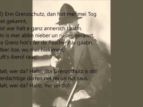 Anton Günther: Dor Grenzschutz (1917) Originalaufnahme