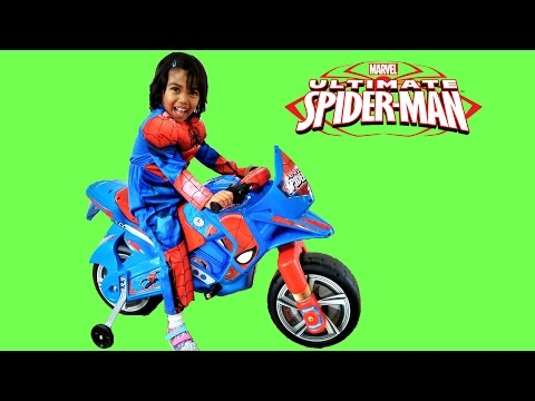 Thumbnail: Spiderman Ride On Motorbike Power Wheels | Surprise Toy Unboxing & Assembly Playtime Kids Superhero