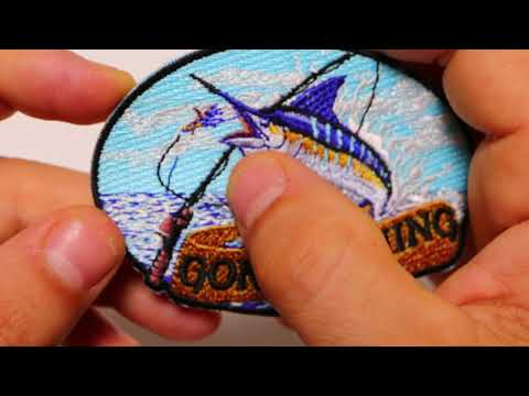 Gone Fishing Embroidered Iron On Patch