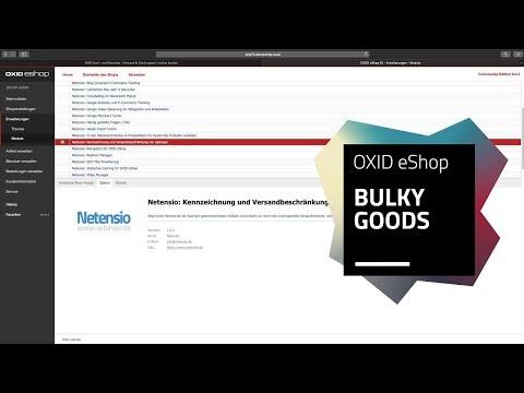 OXID eShop Modul:  Kennzeichnung und Versand von Sperrgut
