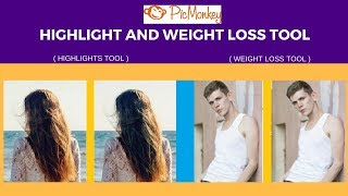 Highlights and Weight Loss tool Picmonkey | Change Hair Colour and Make a Look Weight Lost