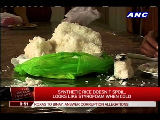 How to spot fake rice