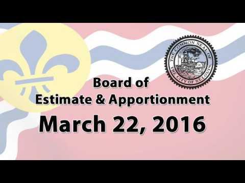 Board of Estimate & Apportionment   March 22, 2016