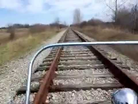 Go Kart on Railroad Tracks - 12mile rail run on abandoned-tracks; reaching speeds of 25mph!!!