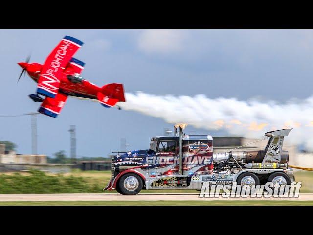 Shockwave Jet Truck vs. Pitts Biplane - Brian Correll - Thunder Over The Heartland 2021