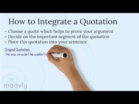 Integrating quotes in essays youtube