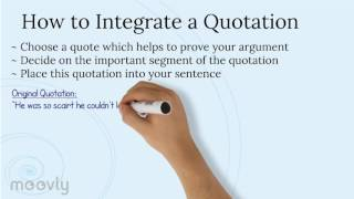 Integrating Quotes in Essays