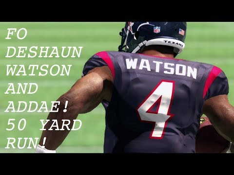Football Outsiders Deshaun Watson and Jahlee Addae! 50 yard beast run by Watson!