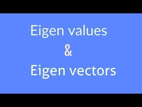 Eigen value & Eigen vector