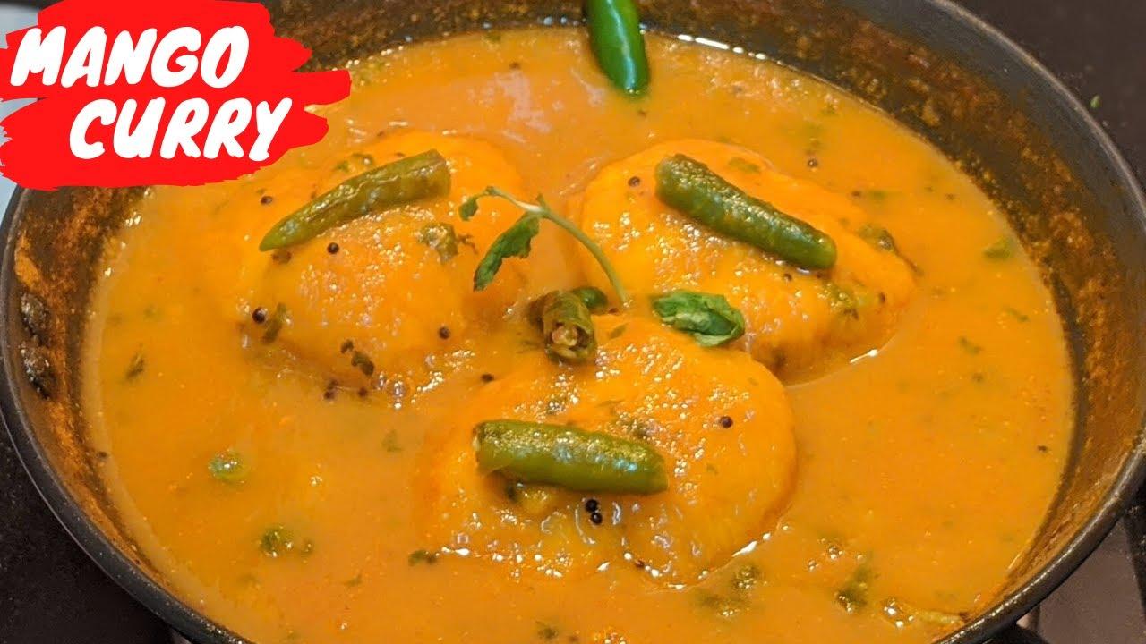 North Indian Style Ripe Mango Curry Recipe | Mango Kadhi Recipe | Gujarati Fajeto Recipe