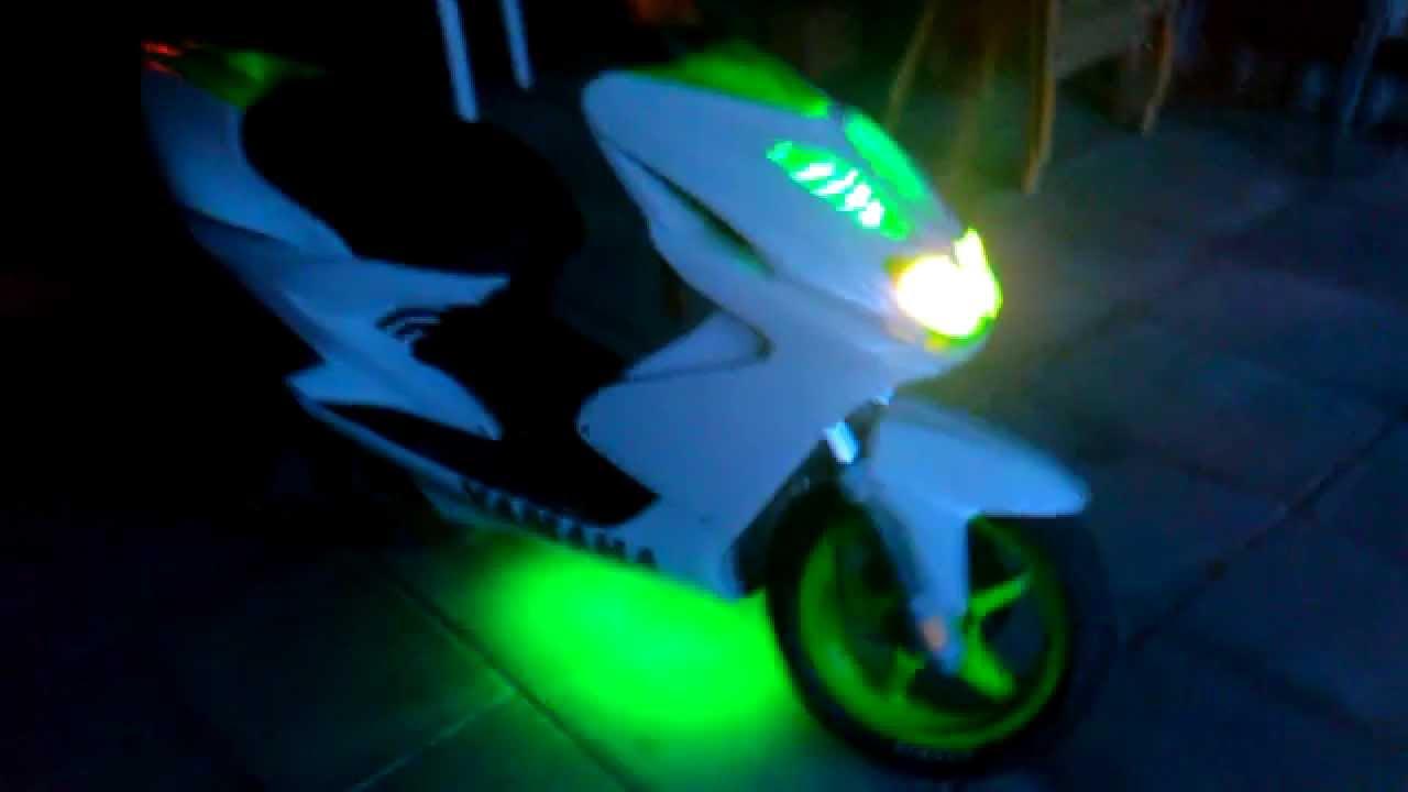 Yamaha Aerox With Green Led Neon Youtube