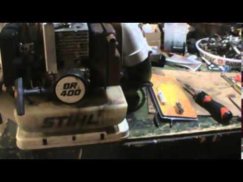 leaf blower sthil br 400 - YouTube