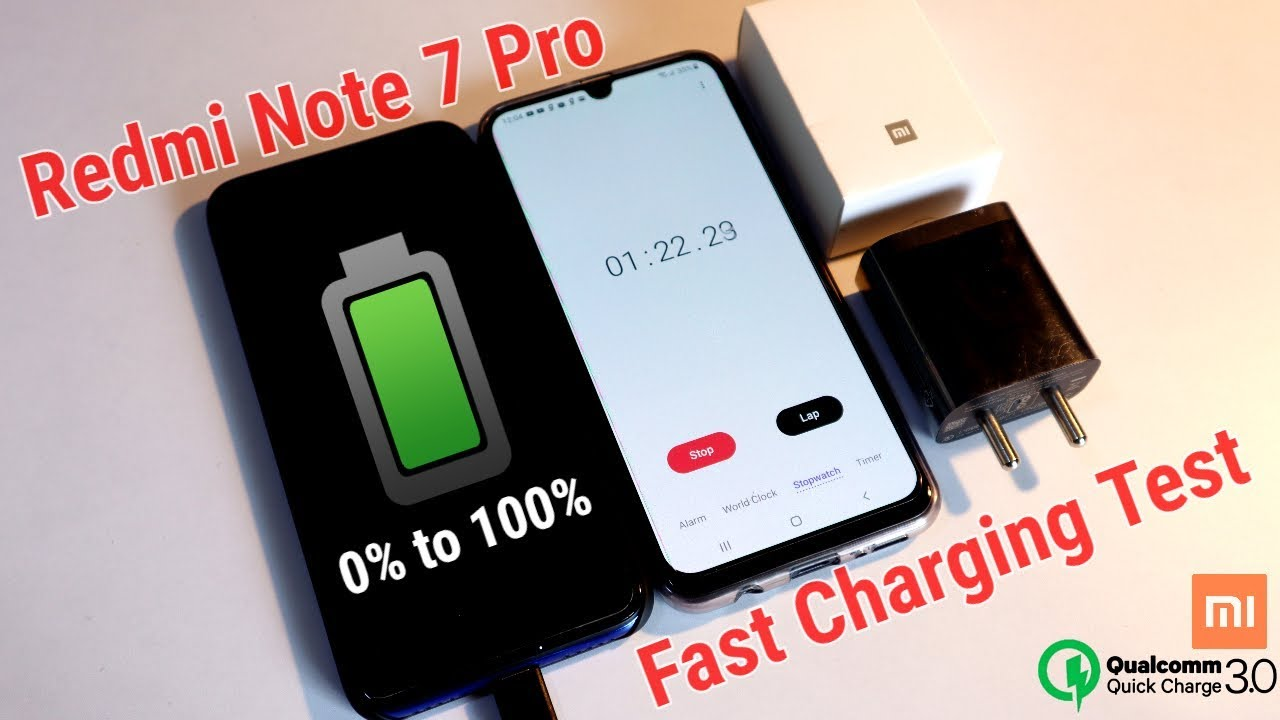 Redmi Note 7 Pro Fast Charging Test 0 To 100 Xiaomi Qualcomm Quick Charge 3 0 Charger Youtube