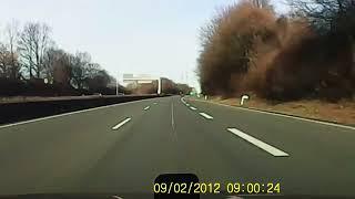 Driving through Bochum Germany - Autobahn from Bochum to Marl