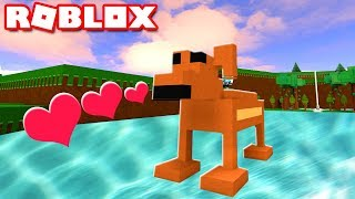 WE BUILT A CUTE PUPPY FOR TREASURE IN ROBLOX! | MicroGuardian
