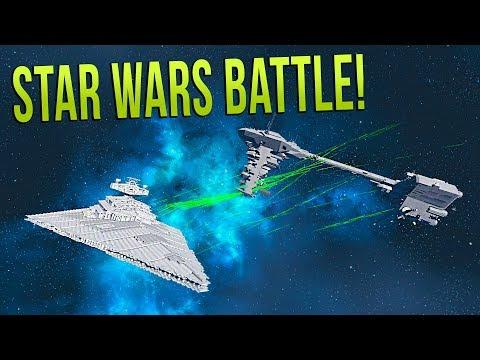 REBEL FLEET vs IMPERIAL STAR DESTROYER! - STAR WARS BATTLE - Space Engineers