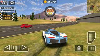 Police Drift Car Driving Simulator / New Blue Police Car / Android Gameplay FHD #5