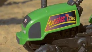 Toy pedal tractor Moster trac with trailer and tools, item no. 2047E, by Falk Toys