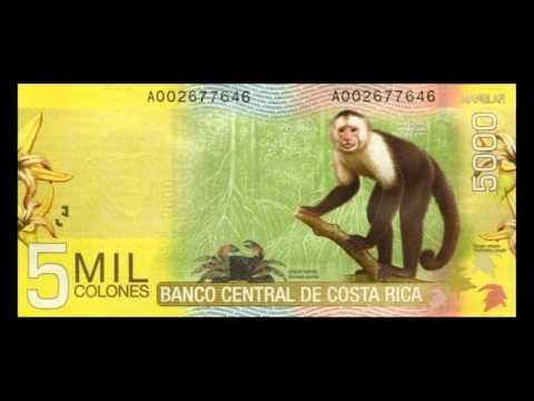 All Costa Rican Colon Banknotes   Banco Central de Costa Rica   2009 to 2012 Issues