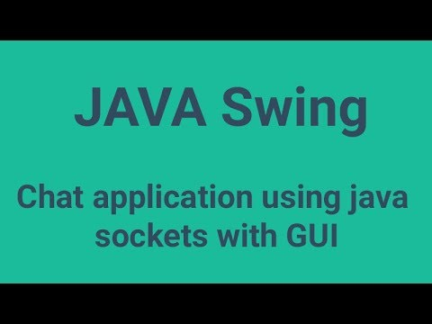 Chat Application Using Java Sockets With GUI (source Code)