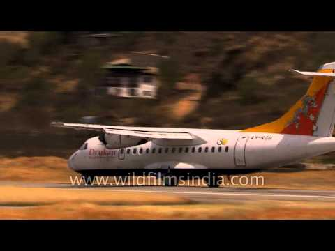 ATR 42 propellor plane drops precipitously from sky to land in Bhutan