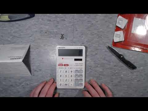 Calculator Video Review: Sharp EL-T100A