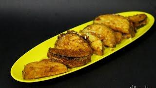Kathirikka Fritters(Fritelle di Melanzane) Recipe in Tamil